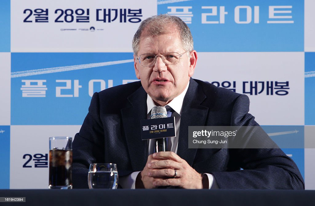 Director Robert Zemeckis attends during a press conference at Conrad hotel on February 18, 2013 in Seoul, South Korea. Robert Zemeckis is visiting South Korea to promote his recent film 'Flight' which will be released in South Korea on February 28.