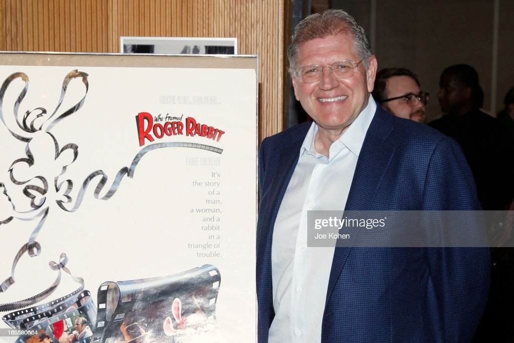 Director <a gi-track='captionPersonalityLinkClicked' href=/galleries/search?phrase=Robert+Zemeckis&family=editorial&specificpeople=211550 ng-click='$event.stopPropagation()'>Robert Zemeckis</a> attends The Academy Of Motion Picture Arts And Sciences' 25th Anniversary Screening Of 'Who Framed Roger Rabbit' at AMPAS Samuel Goldwyn Theater on April 4, 2013 in Beverly Hills, California.