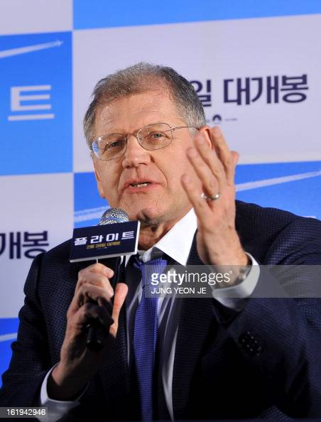 Director Robert Zemeckis speaks during a press conference to promote his recent film 'Flight' in Seoul on February 18 2013 The movie will open in...