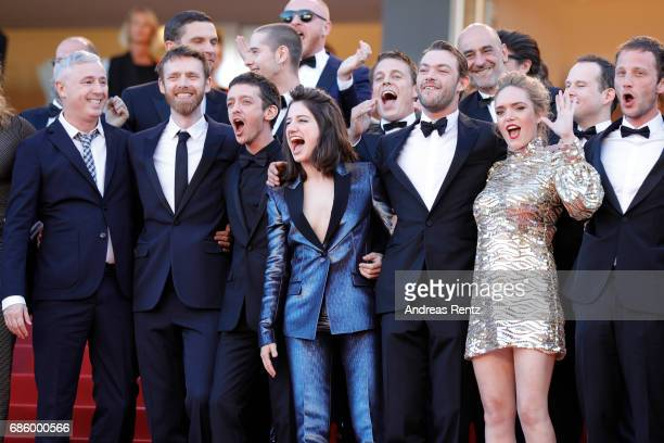 Director Robin Campillo and actors Antoine Reinartz Nahuel Perez Biscayart Aloise Sauvage Felix Maritaud Coralie Russier and Simon Guelat attend the...