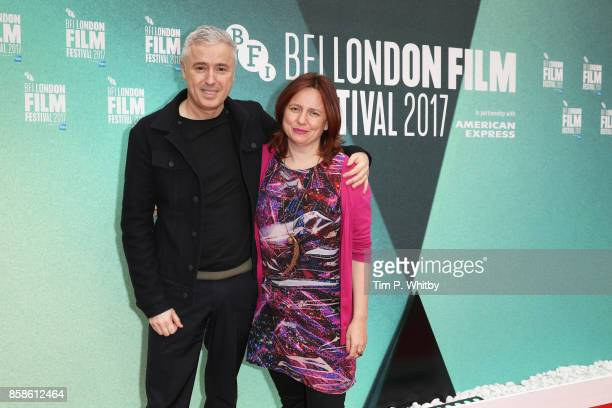 Director Robin Campillo and Clare Stewart attend the UK Premiere of '120 BPM ' during the 61st BFI London Film Festival on October 7 2017 in London...