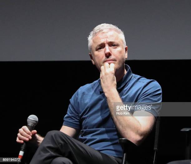Director Robin Campillo attends the QA for the screening of 'BPM ' during the 55th New York Film Festival at Alice Tully Hall on October 8 2017 in...
