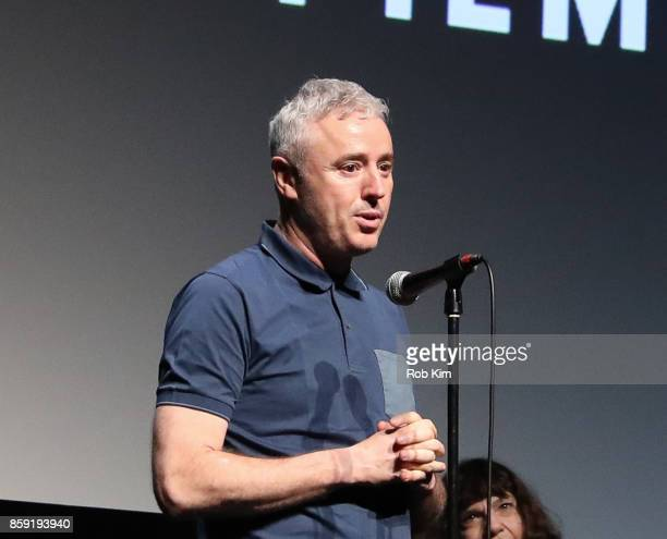 Director Robin Campillo makes an into at the screening of 'BPM ' during the 55th New York Film Festival at Alice Tully Hall on October 8 2017 in New...