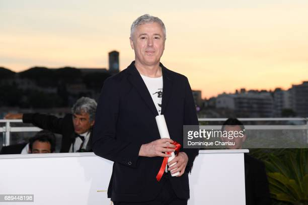 Director Robin Campillo who won the Grand Prix for the movie '120 Beats Per Minute' attends the Palme D'Or winner photocall during the 70th annual...