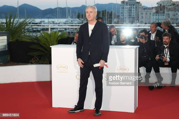 Director Robin Campillo winner of the Grand Prix for the movie '120 Beats Per Minute' attends the Palme D'Or winner photocall during the 70th annual...