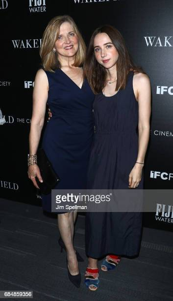Director Robin Swicord and actress Zoe Kazan attend the screening of IFC Films' 'Wakefield' hosted by The Cinema Society at Landmark Sunshine Cinema...
