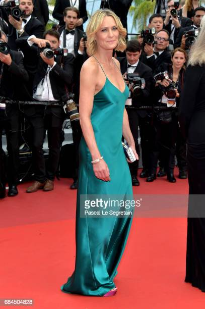 Director Robin Wright of The Dark of Night attends the 'Loveless ' screening during the 70th annual Cannes Film Festival at Palais des Festivals on...