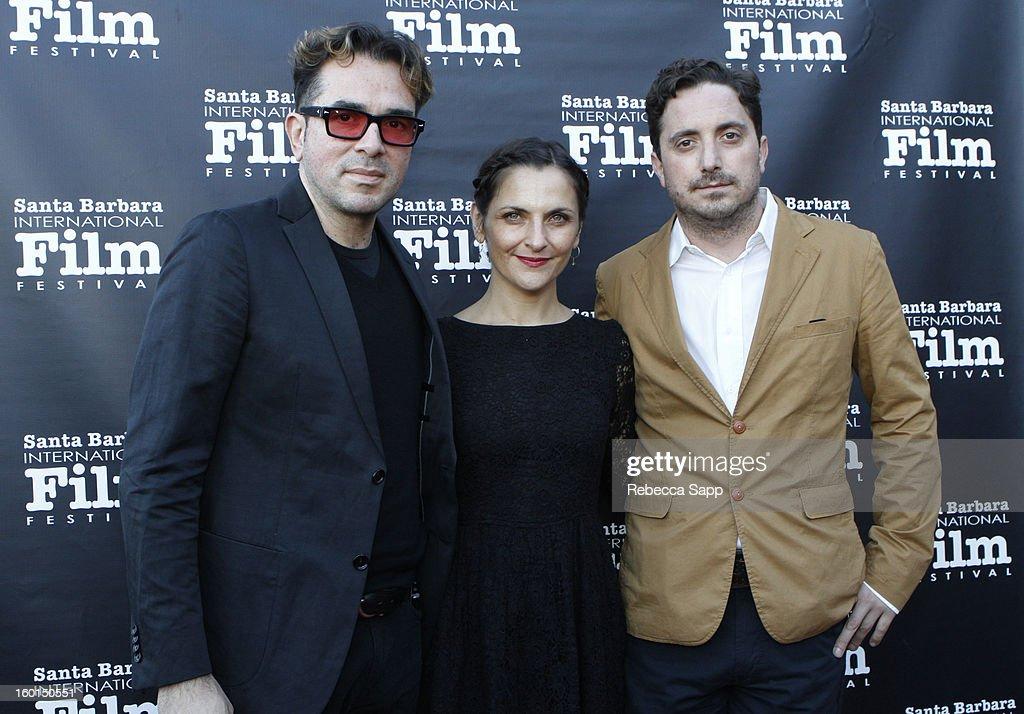 SBIFF director Roger Durling actress Antonia Zegersand director Pablo Larrain attend the 28th Santa Barbara International Film Festival Gala...