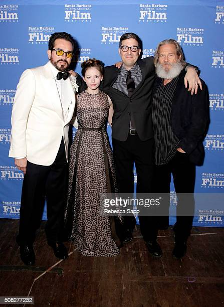 Director Roger Durling Actress Mackenzie Foy Director Mark Osborne and Actor Jeff Bridges at the opening night presentation of 'The Little Prince' at...