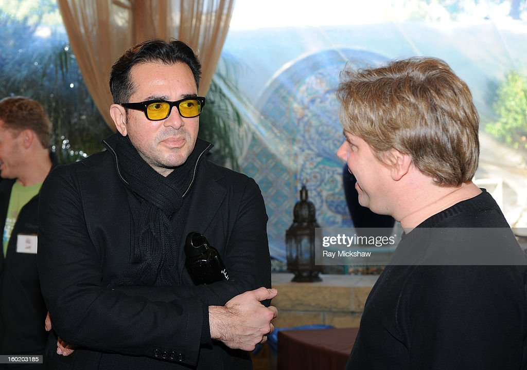 SBIFF director <a gi-track='captionPersonalityLinkClicked' href=/galleries/search?phrase=Roger+Durling&family=editorial&specificpeople=217770 ng-click='$event.stopPropagation()'>Roger Durling</a> and writer Stephen Chbosky attend the 28th Santa Barbara International Film Festival Writers Panel at the Lobero theatre on January 26, 2013 in Santa Barbara, California.