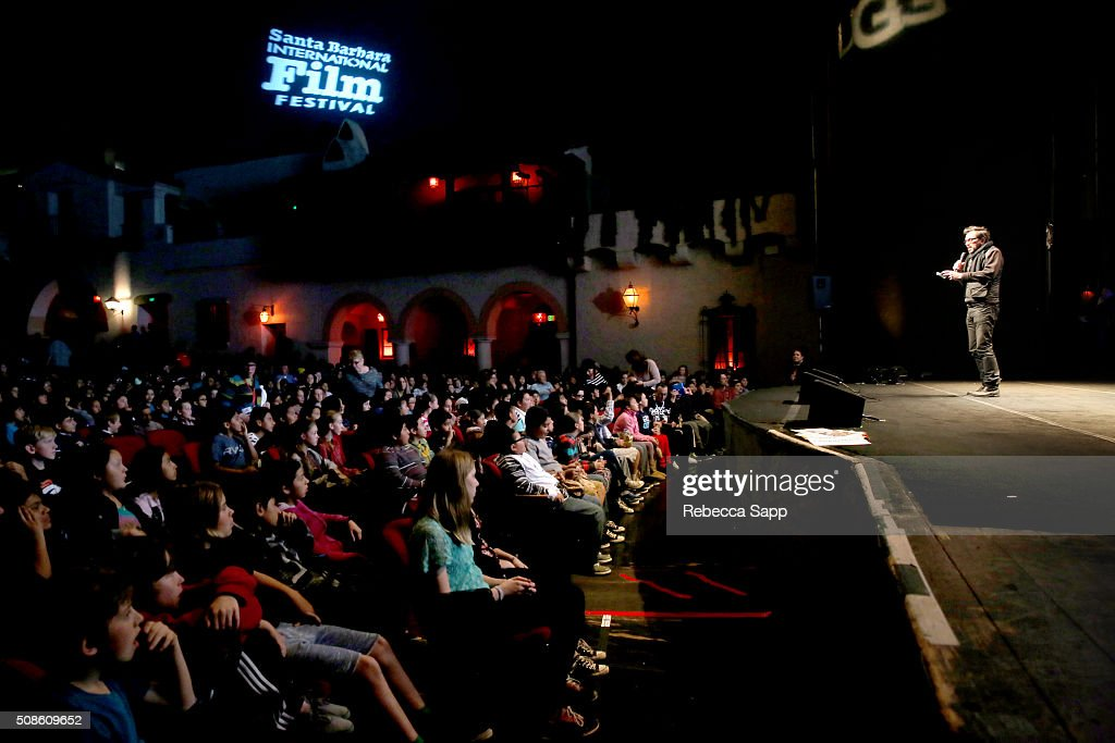 Director <a gi-track='captionPersonalityLinkClicked' href=/galleries/search?phrase=Roger+Durling&family=editorial&specificpeople=217770 ng-click='$event.stopPropagation()'>Roger Durling</a> speaks at Mike's Field Trip to the Movies at the Arlington Theater at the 31st Santa Barbara International Film Festival on February 5, 2016 in Santa Barbara, California.