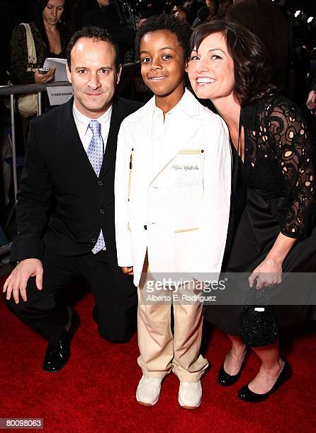 Director Roger Kumble actor Eshaya Draper and Executive producer Ann Marie Sanderlin arrive at the world premiere of Walt Disney Pictures' 'College...