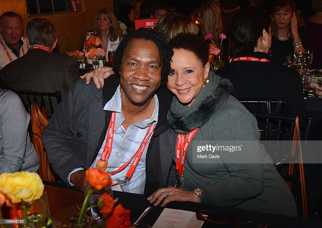 Director Roger Ross Williams and Team President of the WNBA's Washington Mystics Sheila Johnson attend An Artist At The Table, a benefit for the Sundance Institute during the 2013 Sundance Film Festival at The Shop on January 17, 2013 in Park City, Utah.