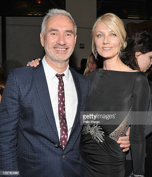 Director Roland Emmerich and Joely Richardson attend the after party for the 'Anonymous' screening at the Circo on October 20 2011 in New York City
