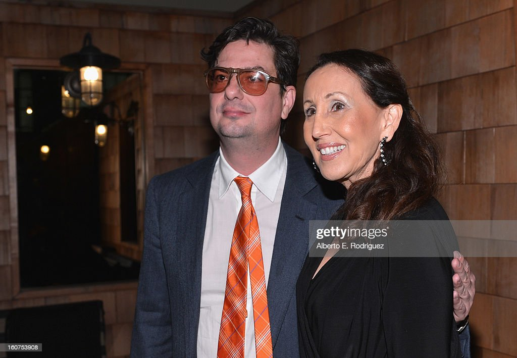 Director <a gi-track='captionPersonalityLinkClicked' href=/galleries/search?phrase=Roman+Coppola&family=editorial&specificpeople=615097 ng-click='$event.stopPropagation()'>Roman Coppola</a> and actress Gloria Laino attend the after party fot the Los Angeles premiere of A24's 'A Glimpse Inside The Mind Of Charles Swan III' at ArcLight Hollywood at ArcLight Hollywood on February 4, 2013 in Hollywood, California.