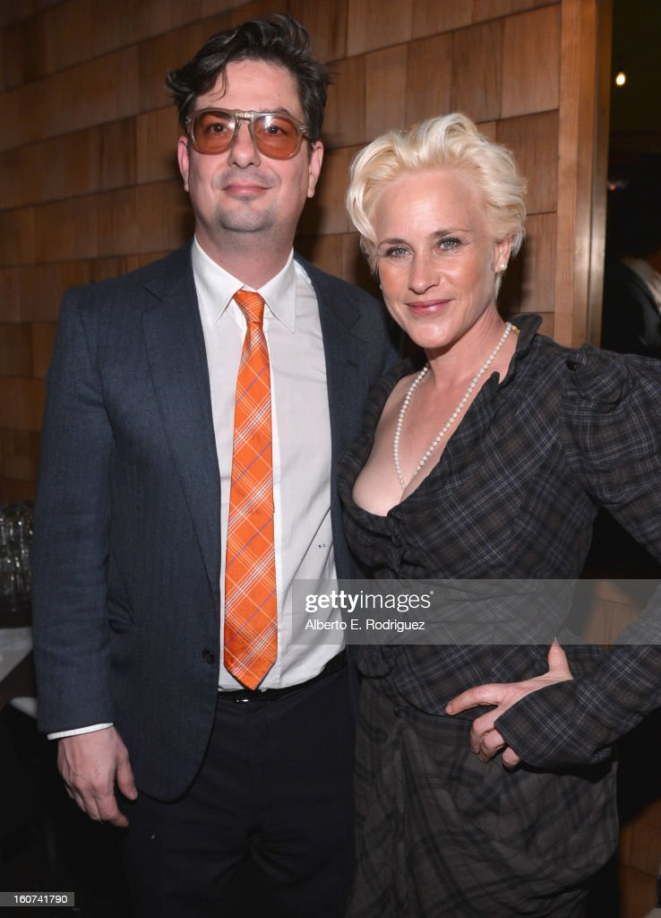 Director <a gi-track='captionPersonalityLinkClicked' href=/galleries/search?phrase=Roman+Coppola&family=editorial&specificpeople=615097 ng-click='$event.stopPropagation()'>Roman Coppola</a> and actress <a gi-track='captionPersonalityLinkClicked' href=/galleries/search?phrase=Patricia+Arquette&family=editorial&specificpeople=206197 ng-click='$event.stopPropagation()'>Patricia Arquette</a> attend the after party fot the Los Angeles premiere of A24's 'A Glimpse Inside The Mind Of Charles Swan III' at ArcLight Hollywood at ArcLight Hollywood on February 4, 2013 in Hollywood, California.