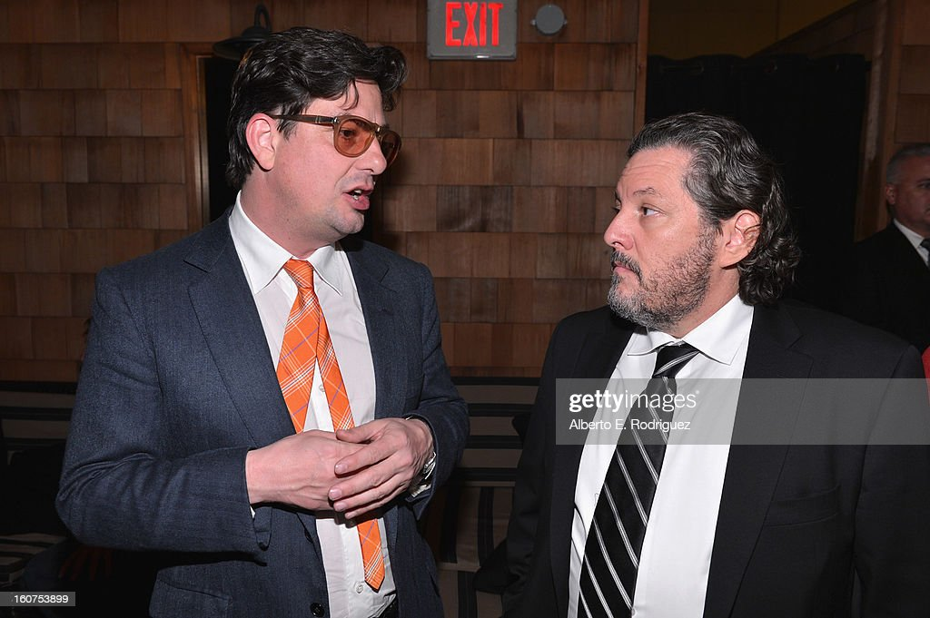 Director <a gi-track='captionPersonalityLinkClicked' href=/galleries/search?phrase=Roman+Coppola&family=editorial&specificpeople=615097 ng-click='$event.stopPropagation()'>Roman Coppola</a> and executive producer Robert Maron attend the after party fot the Los Angeles premiere of A24's 'A Glimpse Inside The Mind Of Charles Swan III' at ArcLight Hollywood at ArcLight Hollywood on February 4, 2013 in Hollywood, California.