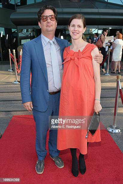 Director Roman Coppola and wife arrive to the Los Angeles premiere of A24's 'The Bling Ring' at the Directors Guild Theater on June 4 2013 in Los...