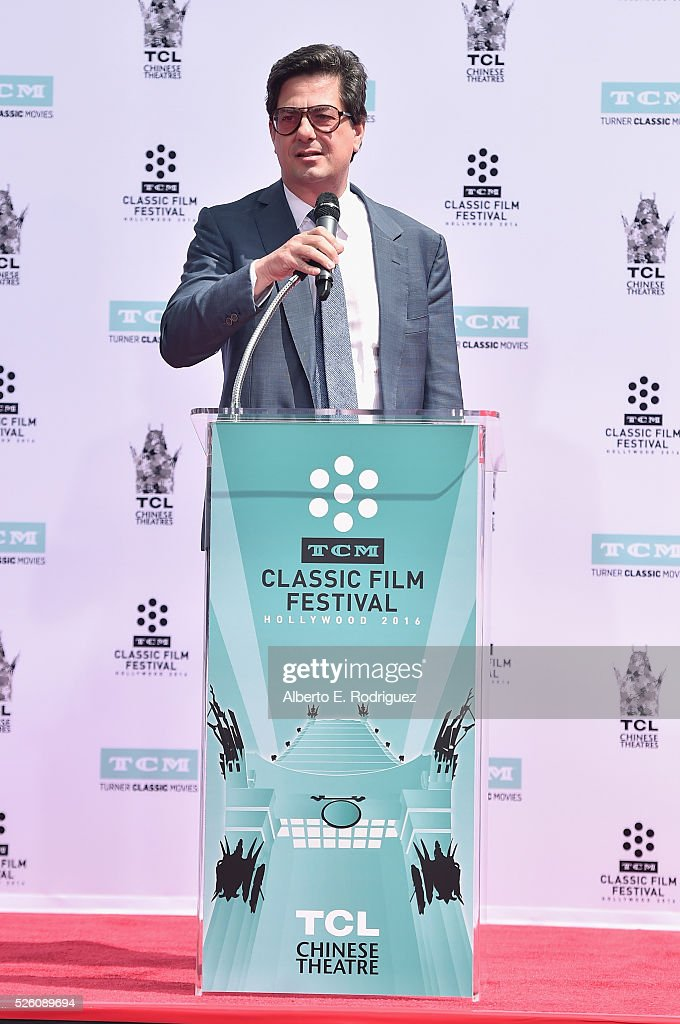 TCM host <a gi-track='captionPersonalityLinkClicked' href=/galleries/search?phrase=Ben+Mankiewicz&family=editorial&specificpeople=678440 ng-click='$event.stopPropagation()'>Ben Mankiewicz</a> attends the Francis Ford Coppola Hand and Footprint Ceremony during the TCM Classic Film Festival 2016 on April 29, 2016 in Los Angeles, California. 25826_006