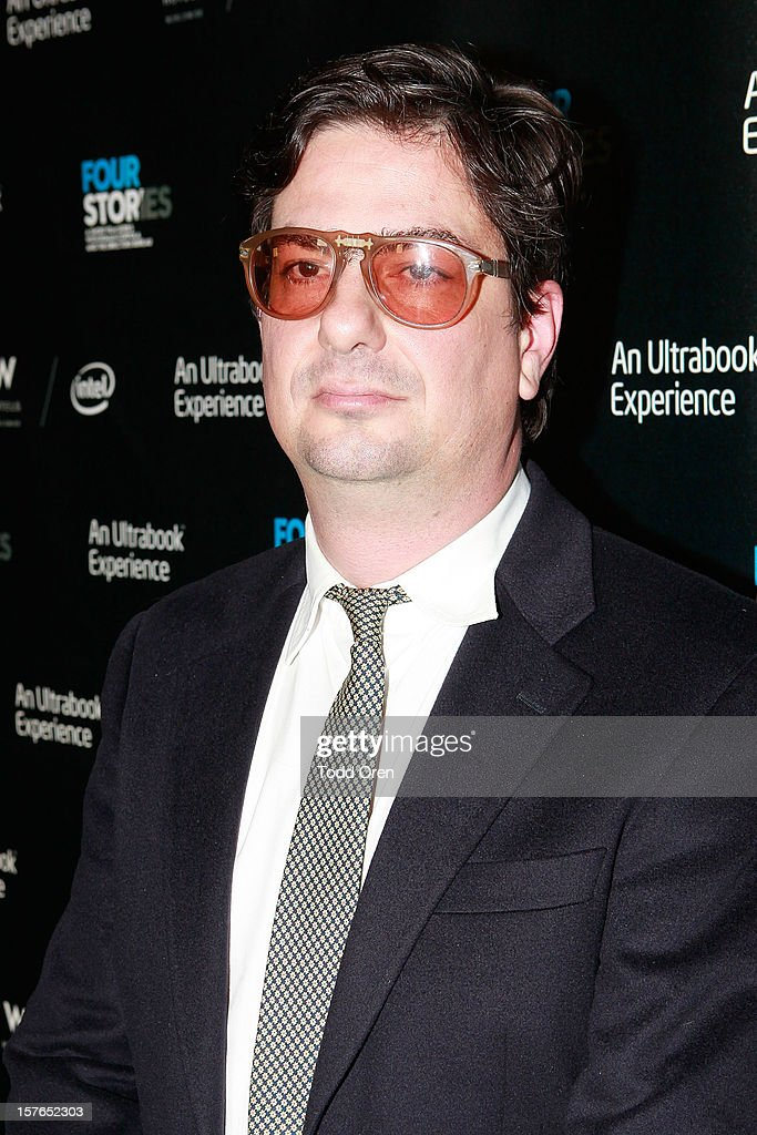 Director Roman Coppola poses at the Intel and W Hotels present Four Stories Film Series at W Hotel Los Angeles - Westwood on December 4, 2012 in Westwood, California.