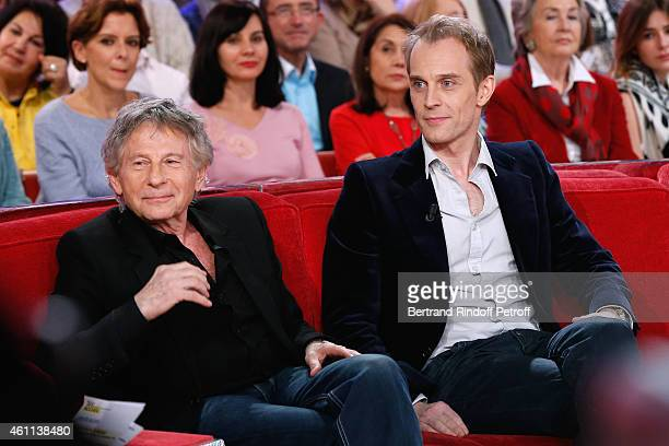 Director Roman Polanski and actor David Alexis present the Musical 'Le bal des Vampires' during the 'Vivement Dimanche' French TV Show at Pavillon...