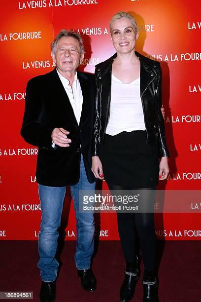 Director Roman Polanski and actress Emmanuelle Seigner attend 'La Venus a La Fourrure Venus in Fur' Premiere at Cinema Gaumont Marignan on November 4...