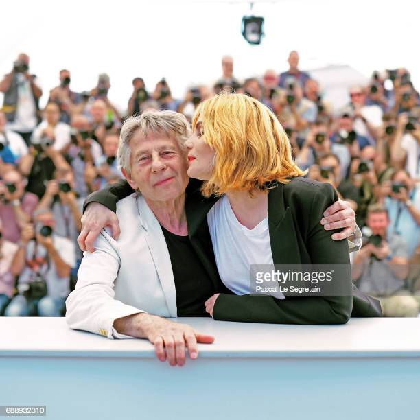 Director Roman Polanski and actress Emmanuelle Seigner attend the 'Based On A True Story' photocall during the 70th annual Cannes Film Festival at...