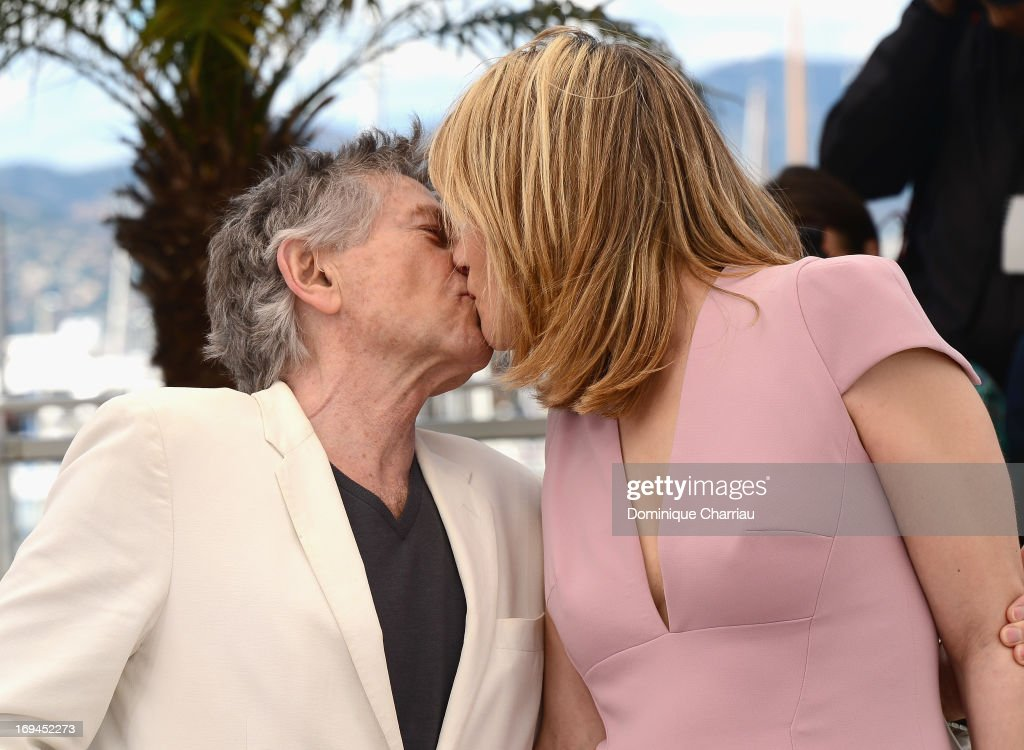 Director Roman Polanski and actress Emmanuelle Seigner attend the photocall for 'La Venus A La Fourrure' at The 66th Annual Cannes Film Festival at the Palais des Festivals on May 25, 2013 in Cannes, France.