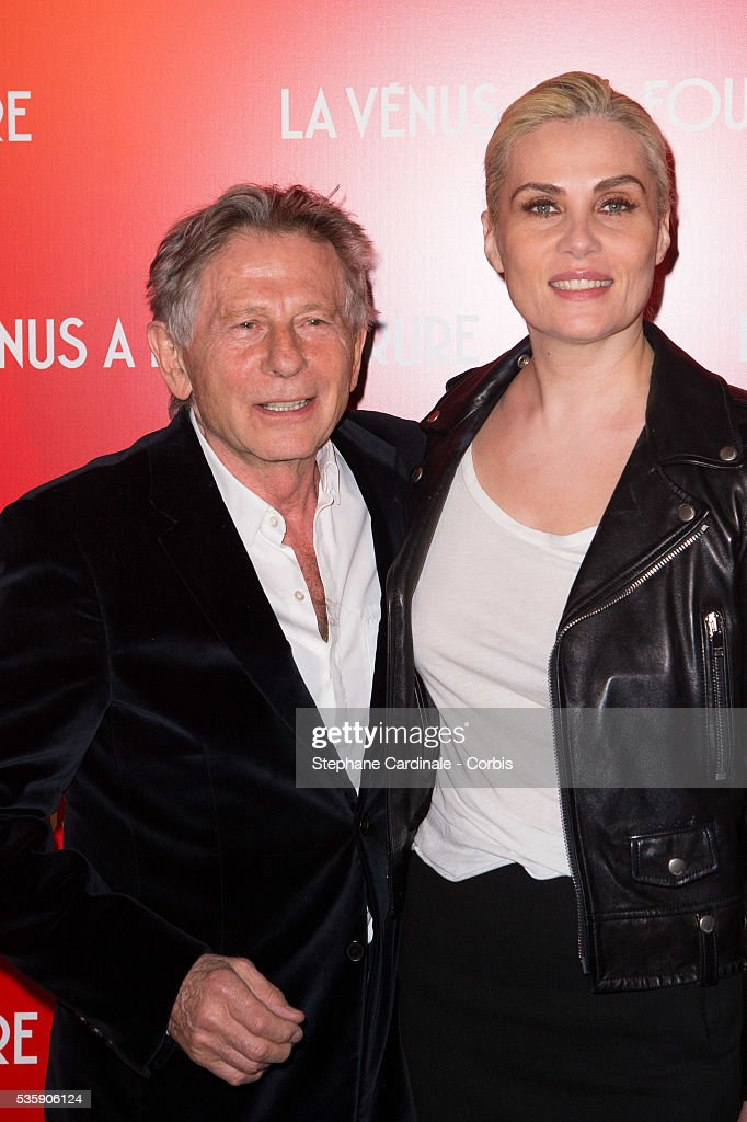 Director Roman Polanski and his wife Emmanuelle Seigner attend 'La Venus A La Fourrure' (Venus In Fur) Premiere at Cinema Gaumont Marignan, in Paris.