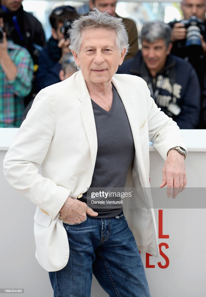 Director Roman Polanski attends the photocall for 'La Venus A La Fourrure' at The 66th Annual Cannes Film Festival at the Palais des Festivals on May 25, 2013 in Cannes, France.