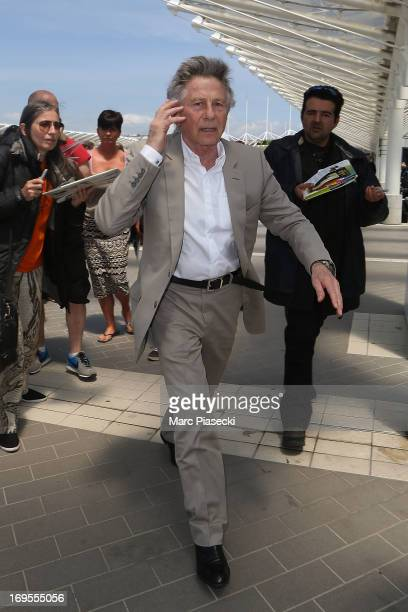 Director Roman Polanski is sighted at Nice airport after the 66th Annual Cannes Film Festival on May 27 2013 in Nice France
