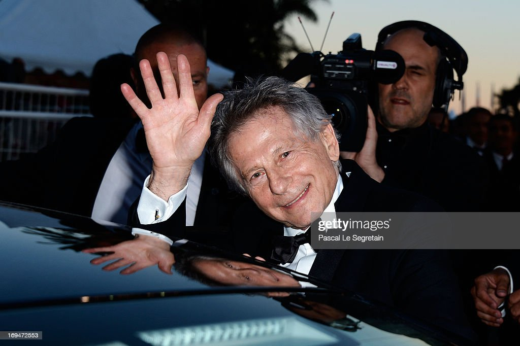 Director <a gi-track='captionPersonalityLinkClicked' href=/galleries/search?phrase=Roman+Polanski&family=editorial&specificpeople=207150 ng-click='$event.stopPropagation()'>Roman Polanski</a> leaves the 'La Venus A La Fourrure' premiere during The 66th Annual Cannes Film Festival at Theatre Lumiere on May 25, 2013 in Cannes, France.