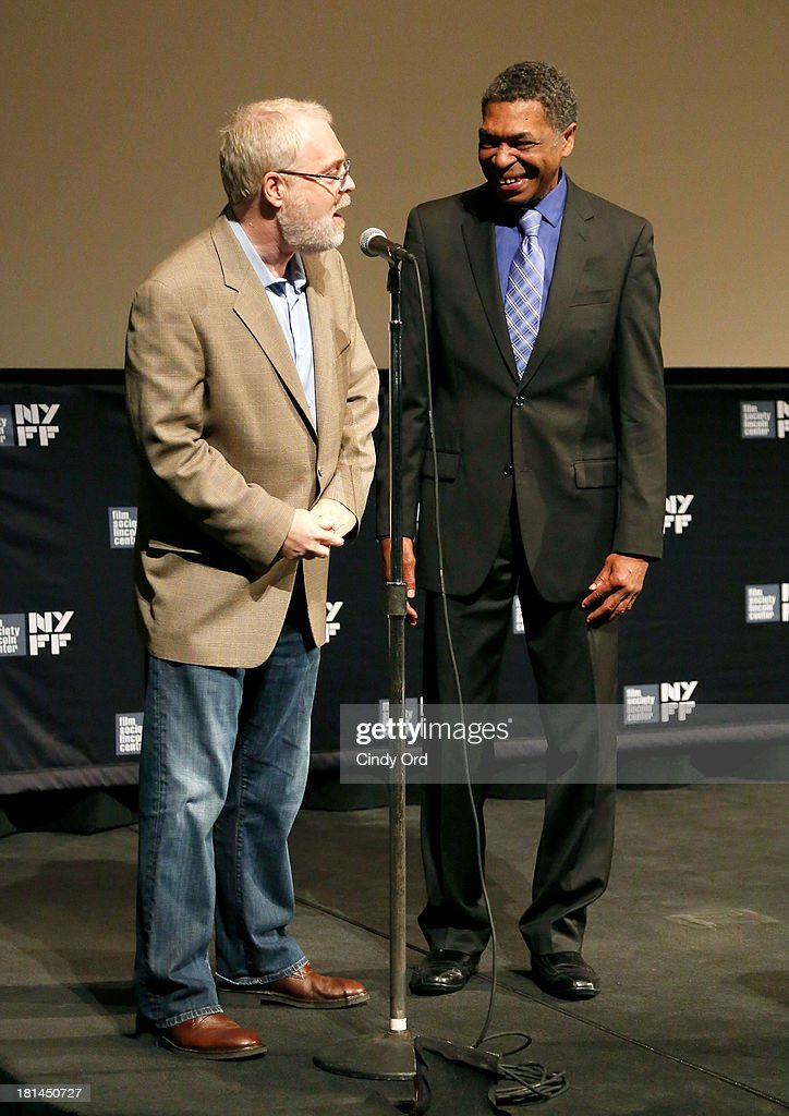Director Ron Clements (L) and actor Samuel Wright speak at Disney's The Little Mermaid special screening at Walter Reade Theater on September 21, 2013 in New York City.