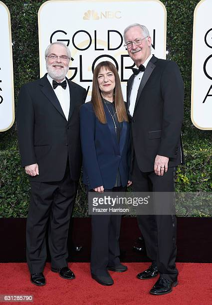 Director Ron Clements producer Osnat Shure and director John Musker attend the 74th Annual Golden Globe Awards at The Beverly Hilton Hotel on January...
