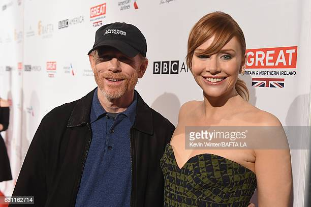Director Ron Howard and actress Bryce Dallas Howard attend The BAFTA Tea Party at Four Seasons Hotel Los Angeles at Beverly Hills on January 7 2017...
