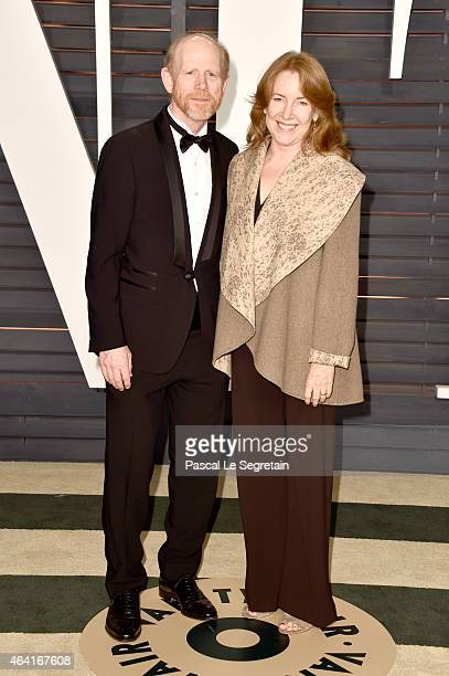 Director Ron Howard and actress Cheryl Howard attend the 2015 Vanity Fair Oscar Party hosted by Graydon Carter at Wallis Annenberg Center for the...