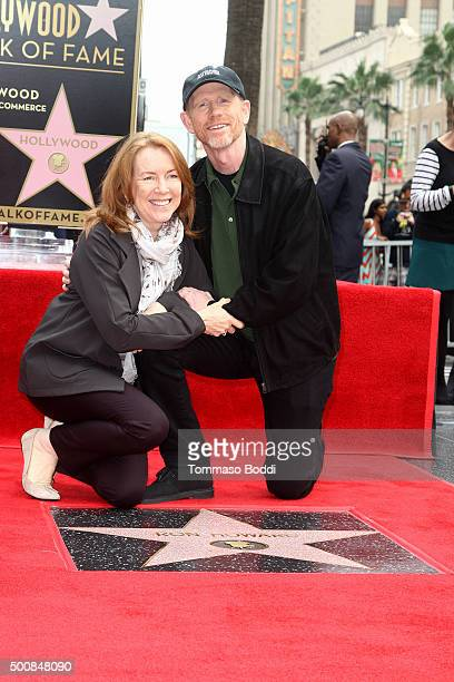 Director Ron Howard and actress Cheryl Howard attends a ceremony honoring director Ron Howard wtih a star on The Hollywood Walk of Fame on December...