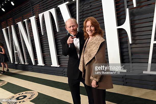 Director Ron Howard and Cheryl Howard attend the 2015 Vanity Fair Oscar Party hosted by Graydon Carter at the Wallis Annenberg Center for the...