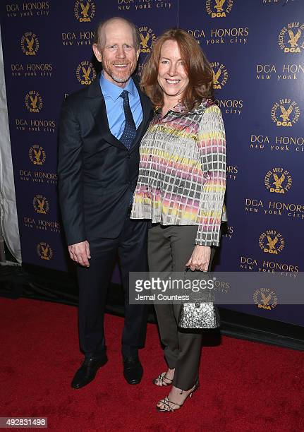 Director Ron Howard and Cheryl Howard attend the DGA Honors 2015 Gala on October 15 2015 in New York City