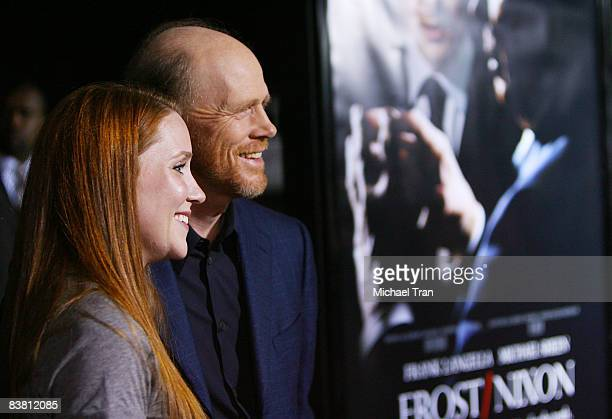Director Ron Howard and daughter Paige Howard arrive at the Los Angeles Premiere of 'Frost/Nixon' held at The Academy of Motion Picture Arts and...