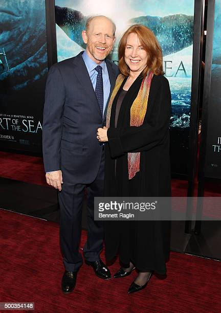 Director Ron Howard and wife Cheryl Howard attend the 'In The Heart Of The Sea' New York Premiere at Frederick P Rose Hall Jazz at Lincoln Center on...