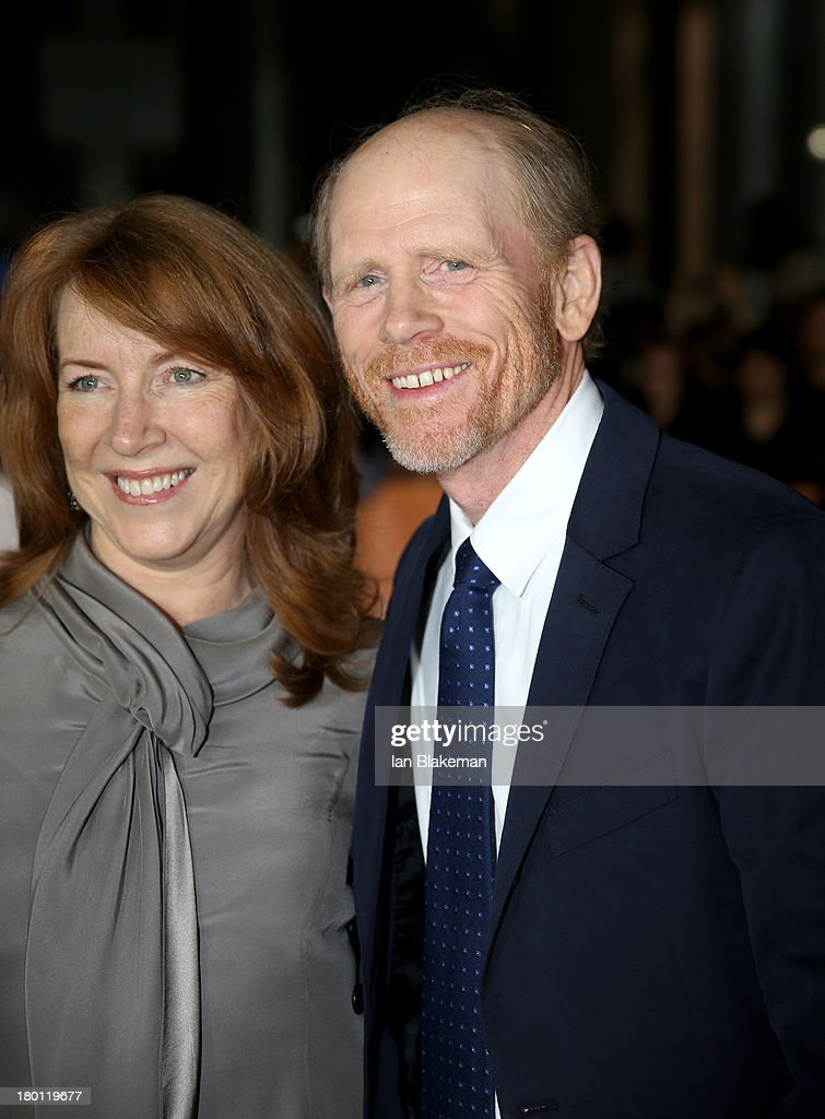 Director Ron Howard (R) and wife Cheryl Howard attend the 'Rush' premiere during the 2013 Toronto International Film Festival at Roy Thomson Hall on September 8, 2013 in Toronto, Canada.