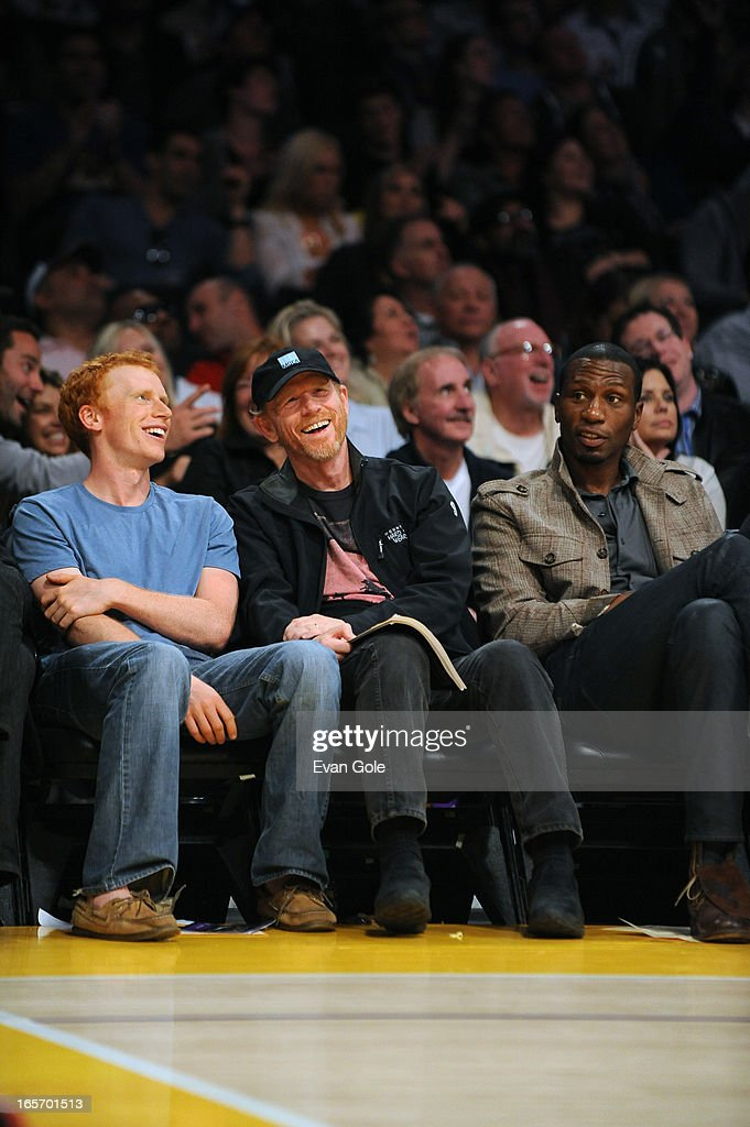 Director, Ron Howard at the Los Angeles Lakers game were they played against the Atlanta Hawks at Staples Center on March 3, 2013 in Los Angeles, California.