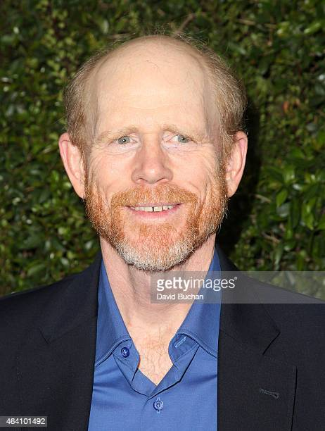 Director Ron Howard attend the Chanel and Charles Finch PreOscar Dinner at Madeo Restaurant on February 21 2015 in Los Angeles California