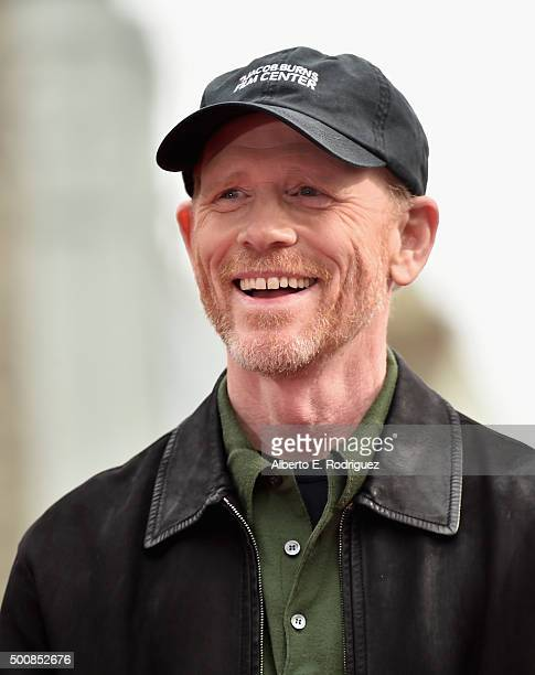 Director Ron Howard attends a ceremony honoring him with the 2568th Star on The Hollywood Walk of Fame on December 10 2015 in Hollywood California