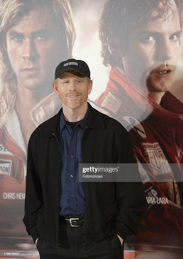 Director <a gi-track='captionPersonalityLinkClicked' href=/galleries/search?phrase=Ron+Howard+-+Director&family=editorial&specificpeople=201972 ng-click='$event.stopPropagation()'>Ron Howard</a> attends a photocall for 'Rush' at Villamagna Hotel on August 19, 2013 in Madrid, Spain.
