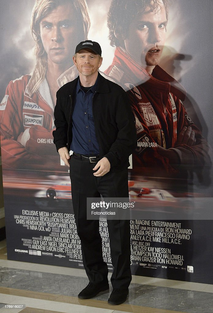 Director Ron Howard attends a photocall for 'Rush' at Villamagna Hotel on August 19, 2013 in Madrid, Spain.