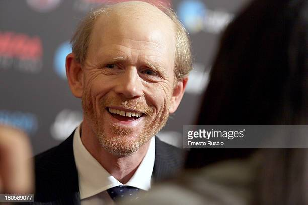 Director Ron Howard attends the 'Rush' Premiere at Auditorium della Conciliazione on September 14 2013 in Rome Italy