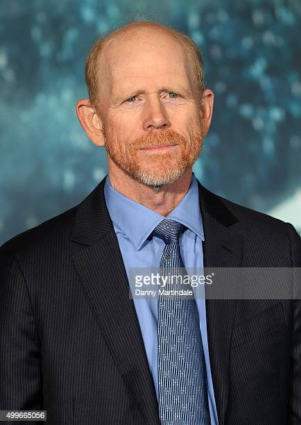 Director Ron Howard attends the UK Film Premiere of 'In the Heart of the Sea' at Empire Leicester Square on December 2 2015 in London England