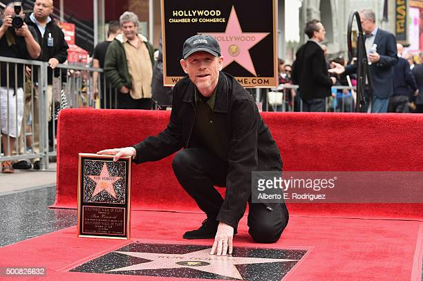 Director Ron Howard is honored with a star on the Hollywood Walk of Fame on December 10 2015 in Hollywood California